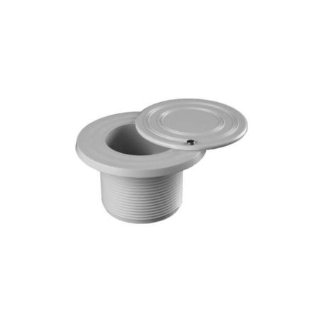 060601020000 Boquilla de aspiración ABS roscar para piscina de hormigón. Tapón giratorio. Modelo BLPR Kripsol