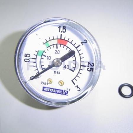 """Manómetro ⅛"""" 3 kg/cm² filtro AstralPool 4404010103"""