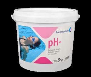 Minorador de pH granulador piscinas 8 kg Brenntquisan