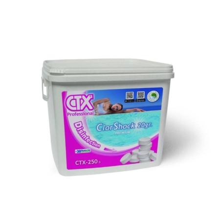 60081 CTX-250 Clorshock 20 g - Envase cuadrado CTX